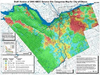 Ottawa Citizen: Earthquake hazard map of Ottawa (thumbnail)