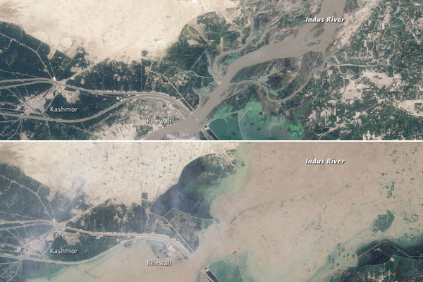 NASA Earth Observatory: Flooding near Kashmor, Pakistan