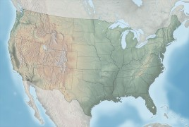 Tom Patterson relief map of U.S.