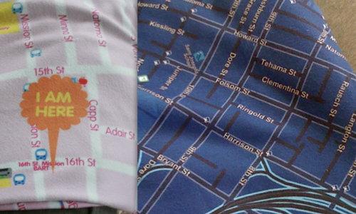 Pistil SF map blankets
