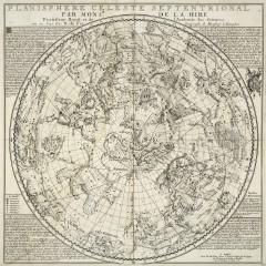 Planisphere celeste septentrional, Philippe de La Hire (1702)