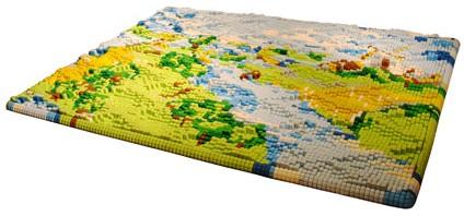 Relief map rug [Studio Laurens van Wieringen]