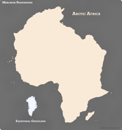 Greenland and Africa reversed
