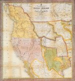 A New Map of Texas, Oregon, and California, S. A. Mitchell, 1846