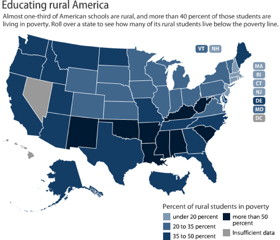 The Map Room Rural Schools Rural Poverty - Us map by schools