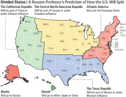 WSJ's Divided States map