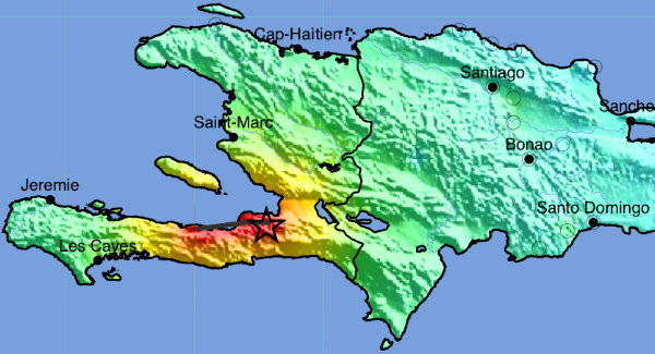 USGS ShakeMap: Haiti region