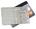Subway credit card map