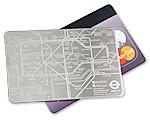 Subway credit card map