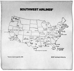 Southwest Airlines napkin