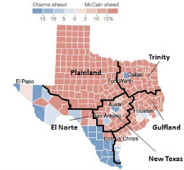 Texas divided (FiveThirtyEight)