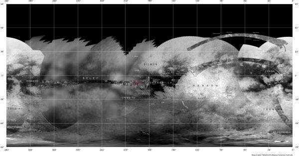 Map of Titan (USGS)