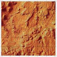 Topo map of Mars (thumbnail)