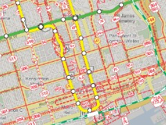 Toronto transit map (screencap)