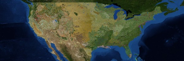 USGS: Terrestrial Ecosystems in the Conterminous United States (screenshot)