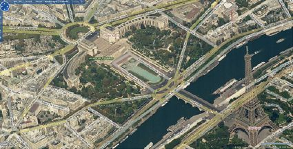 Virtual Earth Bird's Eye Paris