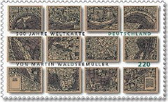 Waldseemüller Map stamp (Deutsche Post)