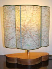 Map lampshade by Sarah Walker