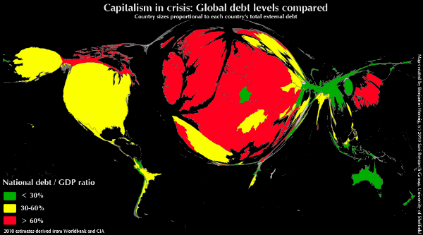 Capitalism in crisis: Global debt levels compared