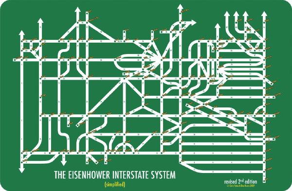 Interstate Highway as Metro Information Design at Penn